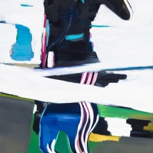 Ohne-Titel-Reflexion-1-2015-Öl-und-Lack-auf-Leinwand-200-x-106-cm