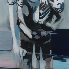 Street-Hooker-3-2015-Öl-und-Lack-auf-Leinwand-146-x-95-cm