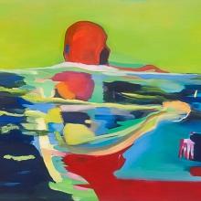 Ohne-Titel-Schwimmen-2016-Öl-und-Lack-auf-Leinwand-200-x-155-cm