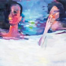 Ohne-Titel-Smoking-in-bed-2-2016-Öl-und-Lack-auf-Leinwand-200-x-150-cm