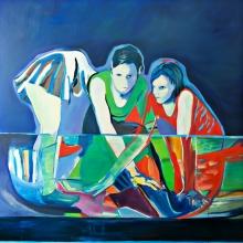 Ohne Titel (Drei), 2018, Öl auf Leinwand, 180 x 180 cm