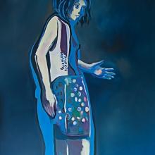 Ohne Titel (Reflexion), 2018, Öl auf Leinwand, 200 x 150 cm