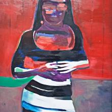 Hände, 2017, Öl und Lack auf Leinwand, 150 x 94 cm