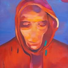 Ohne Titel, 2017, Öl und Lack auf Leinwand, 140 x 107 cm