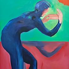Ohne Titel, 2018, Öl auf Leinwand, 110 x 110 cm