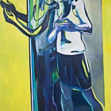 Ohne Titel (Narziss 4), 2017, Öl und Lack auf Leinwand, 200 cm x 150 cm