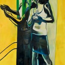 Ohne Titel, (Narziss 4), 2017, Öl und Lack auf Leinwand, 200 x 150 cm
