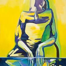 Rest(less), 2017, Öl und Lack auf Leinwand, 156 x 107 cm